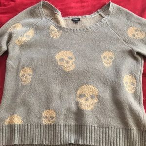 Torrid Glitter Skull Sweater